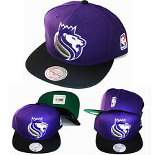 Mitchell & Ness NBA Sacramento Kings Purple Snapback Hat Classic Lion Logo Cap