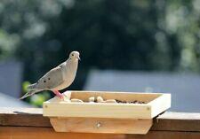 Deck Rail Tray Feeder, Large Bird Feeder 12 x 15 Platform, Wood Bird Feeder Usa!