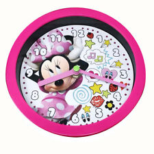"""DISNEY Minnie Mouse Girls 6"""" Dual Function Tabletop n Wall Round Clock NEW"""