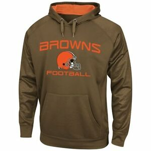 Cleveland Browns MENS Sweatshirt Pullover Hoodie Gridiron VI Brown by Majestic