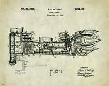 John Deere Tractor Patent Poster Art Corn Picker Toys Charles Freitag PAT322
