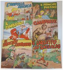 Galep Bonelli COLLANA DEL TRIFOGLIO nn. 1-6 COMPLETA audace 1953