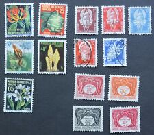 1958 full set 5 flowers 5 officials & dues French West Africa Aof Cv £26+