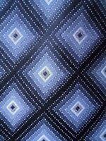 Van Huesen Tie Black Grey Diamond Checkered Pattern Mens Necktie