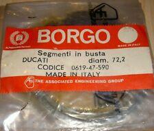 1975-77 Ducati 350cc Vertical Gemelo 72.2mm Nos Par Borgo Oem Pistón Anillo Sets