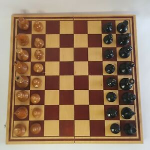 Vintage russian, completely wooden chess set. Made in USSR in in 1975 .