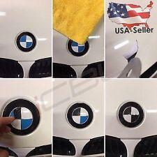 Carbon Fiber Roundel Decal Sticker Emblem overlay fits al BMW Hood + Trunk (4pcs