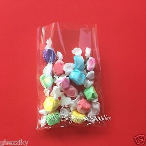 200 CLEAR POLY BAKERY CELLO CANDY BAG POLYPROPYLENE COOKIE FLAT POLY TREAT BAGS
