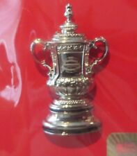 FA CUP TROPHY SILVER 3D BADGE -CHELSEA ARSENAL BLACKBURN ROVERS WEST BROMWICH