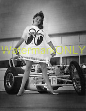 """""""Miss Moon Eyes"""" & """"MOON"""" 60s Vintage Top Fuel Dragster '60s era PHOTO!! #(10)"""