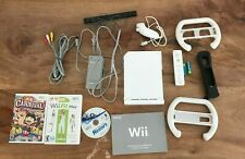 Nintendo Wii Console Bundle White Wii Video Game System Bundle With Box RVL-001