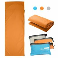 """83""""X28"""" Travel Sleeping Bag Liner Camping Sheet for Single Person Outdoor Indoor"""