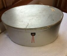 40s Vtg Men's Stetson Stratoliner Hat Box Only Airplane Silver Boeing 307 Decal