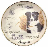 Danbury Mint Border Collie plate August Paul Doyle Dog Plates CP2162