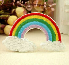 Rainbow Cloud Embroidery Patch Sew Iron Cloth Bag DIY Fabric Sticker  ☆