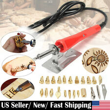 37Pcs 30W Wood Burning Pen Set Electric Soldering Iron Kit Iron Burner Hobby Kit