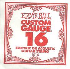 ERNIE BALL Corde à l'Unité Electrique ou acoustique Custom Gauge - 1016/16