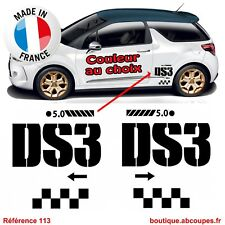 2 Stickers Bas de caisse DS3 - Citroen Racing Passage roue Latéral Decals - 113