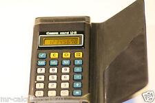 Calculadora de tarjeta Rara Vintage Canon Amarillo LC-31 Pantalla LCD 1981