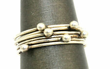 Vtg 1950s STUDIO Modernist Sterling Silver KINETIC BALLS Space Age Ring Size 7
