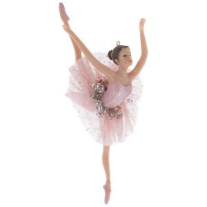 Ballerina in Pink Tutu Christmas Tree Ornament. Cute Gift