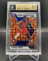 2019-20 Panini Mosaic Zion Williamson Orange Reactive #269 BGS 9.5 Gem Mint