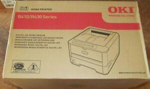 NEW Oki B410D Workgroup Laser Printer ~ Auto Duplex ~ 30PPM ~