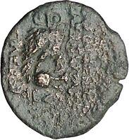 Cleopatra Thea & Antiochos VIII Seleukid Kingdom Owl Ancient Greek Coin i49572