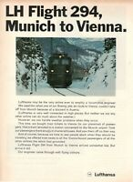 1969 Original Advertising' Lufthansa German Airlines LH Flight 294
