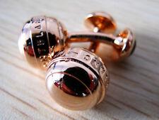Montblanc Mont Blanc Rose Gold Ball Cufflinks MINT