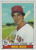"""1979 TOPPS DWIGHT EVANS #155 BOSTON RED SOX-""""LOW GRADE"""" SEE DESCRIPTION CREASING"""