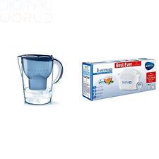 Brita Marella Carafe d'eau filtrante, Maxtra +, Bleu-Taille XL + coffret,