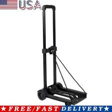 Mini Folding Luggage Cart Portable Travel Trailer Cart Shopping Trolley