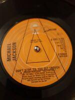 """Michael Jackson PROMO Don't Stop 'Til You Get Enough Vinyl 7"""" Single SEPC 7763"""