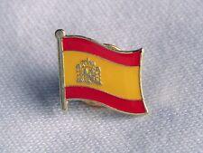 Spain Spanish Flag Country Metal Lapel Pin Badge