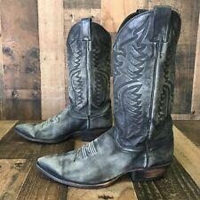 Justin Vtg Suede Cowboy Boots Men's 10 d