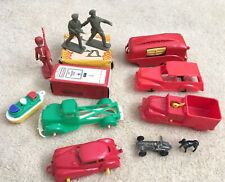 Vintage Huge Job Lot Plastic Toys Crescent Made in England Figures Cars Rare