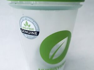 NEW NUTRISYSTEM BLENDER BOTTLE CLEAR WITH GREEN TOP 12OZ