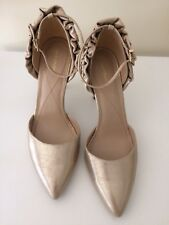 Max Studio Gold Ankle Strap Heels Skinny Size 11 Holiday