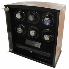 6 Slot Watch Winder Programmable LCD Digital Blonde Burl Wood  Quality