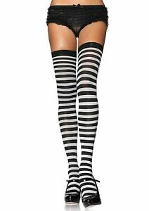 Leg Avenue Nylone Striped Stockings Yellowe & Pink (One Size)