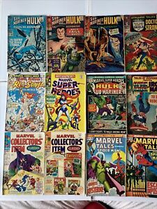 SilverAge Lot Of 12 Marvel Comics Strange Tales Tales To Astonish VG To FN+ Nice