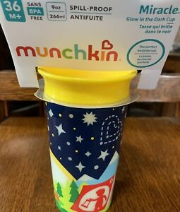 NEW Munchkin Baby 9 oz. Miracle 360 Degree Glow N Dark Sippy Cup Free Shipping!