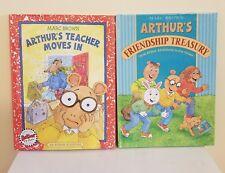 Arthur's Teacher Moves In by Marc Brown 2000 + Arthur's Friendship Treasury HC