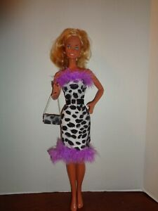 """PRETTY  DRESS  OUTFIT FOR 18"""" SUPER SIZE BARBIE DOLL- OUTFIT ONLY"""