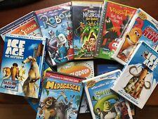 Lot 12 Children Dvds - Ice Age, Shrek, Madagascar, Bee Movie, Open Season