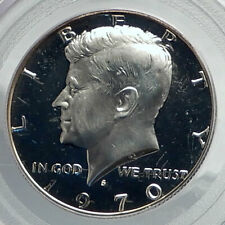 1970 JOHN F KENNEDY Proof Silver Half Dollar US Coin PCGS PR 68 Certified i79872