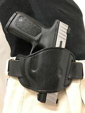 Pro-Tech Outdoors Black Leather Gun Holster for Ruger SR22 Right Hand Belt Slide