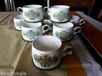8 WEDGWOOD VICTORIA COFFEE CUPS ENGLAND TEA  NICE!!