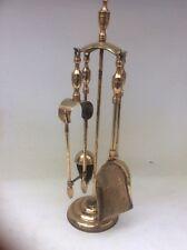 Brass Companion Set 4 Piece On Stand. b9